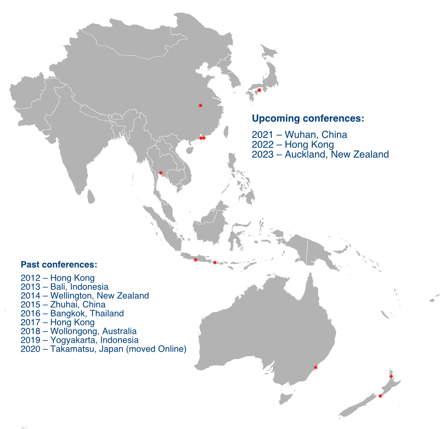 Map of IEEE Region 10